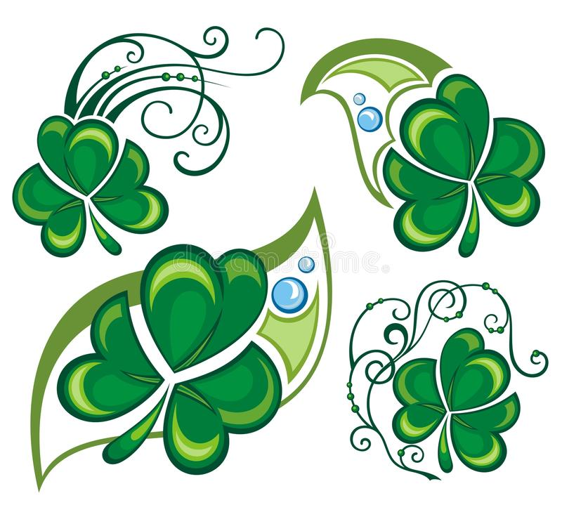 Progettazione del trifoglio dell'acetosella royalty illustrazione gratis