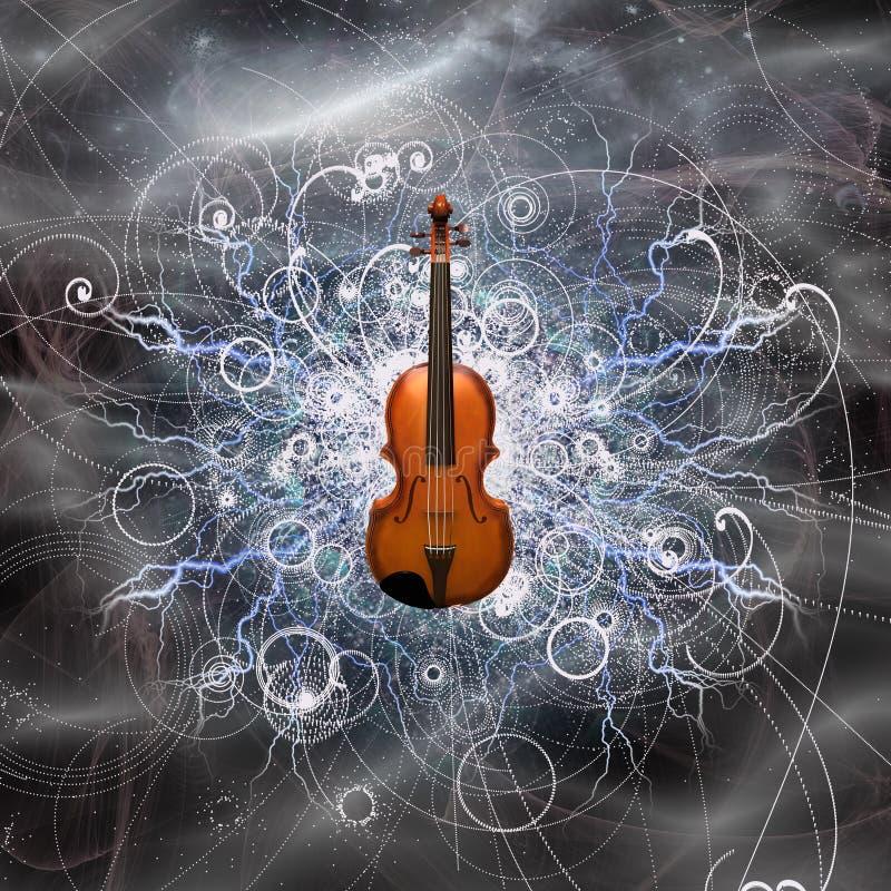 Progettazione del violino royalty illustrazione gratis
