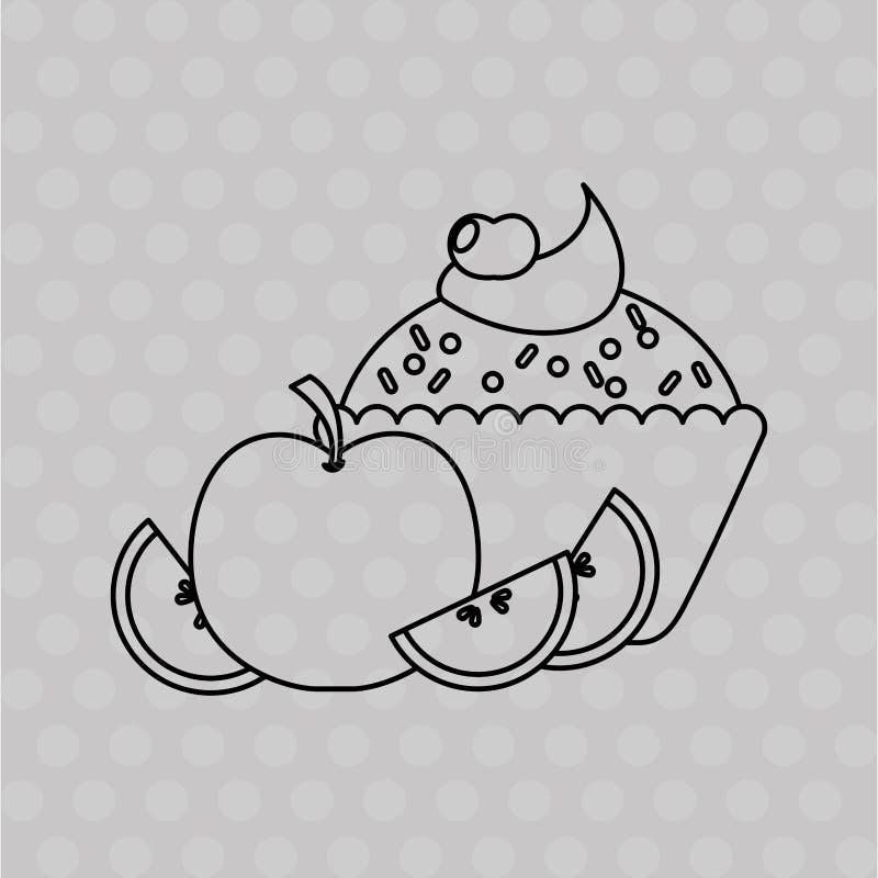 progettazione deliziosa del negozio di pasticceria illustrazione vettoriale