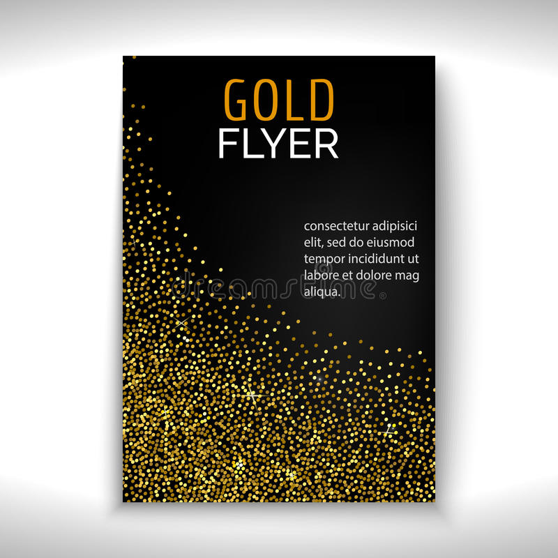 Progettazione dell'aletta di filatoio della polvere di oro royalty illustrazione gratis