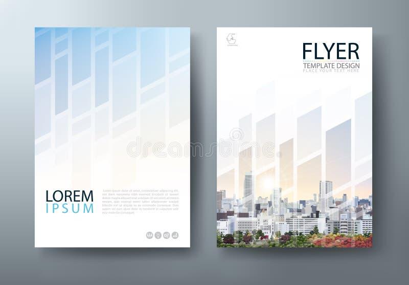 Progettazione dell'aletta di filatoio, presentazione della copertura dell'opuscolo, vettore del modello della copertina di libro, illustrazione di stock