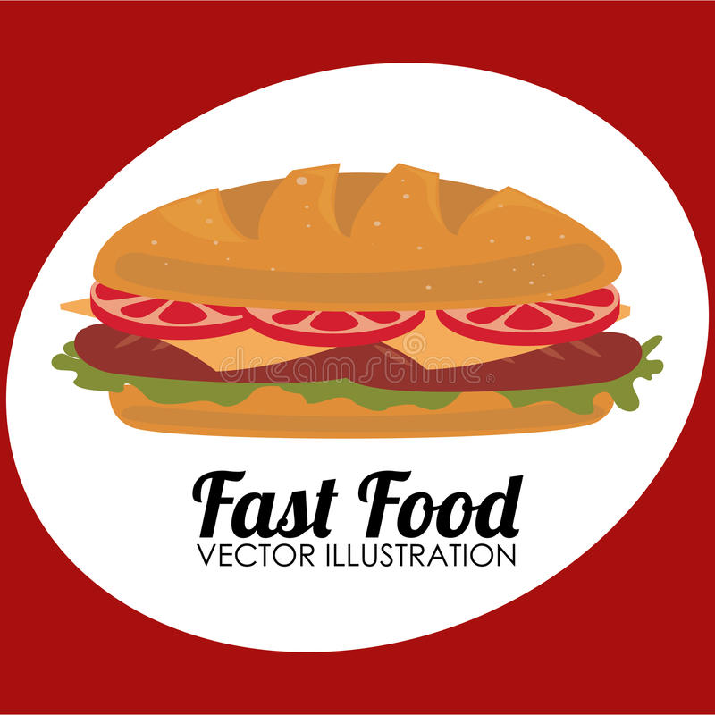 Progettazione dell'alimento illustrazione vettoriale