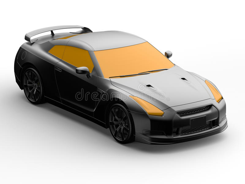 Progettazione dell'automobile 3D di concetto illustrazione vettoriale