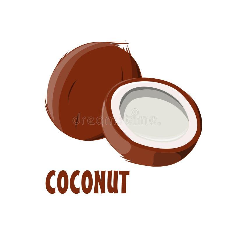 Progettazione dell'azienda agricola di Logo Coconut immagini stock libere da diritti