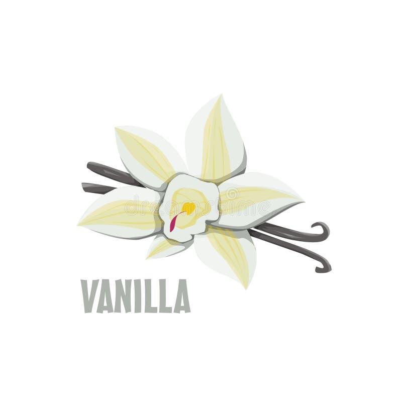 Progettazione dell'azienda agricola di Logo Vanilla fotografia stock