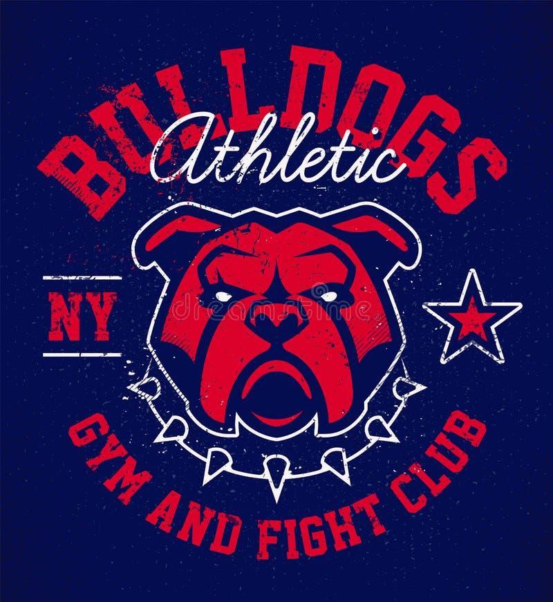 Progettazione dell'emblema di lerciume del bulldog illustrazione di stock