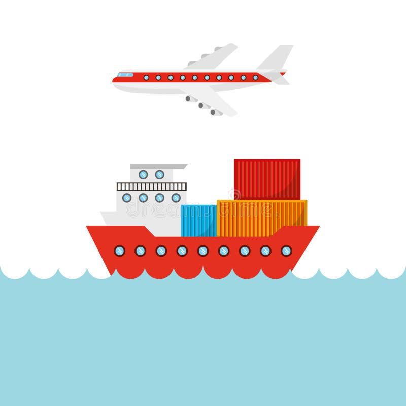 Progettazione dell'esportazione e dell'importazione royalty illustrazione gratis