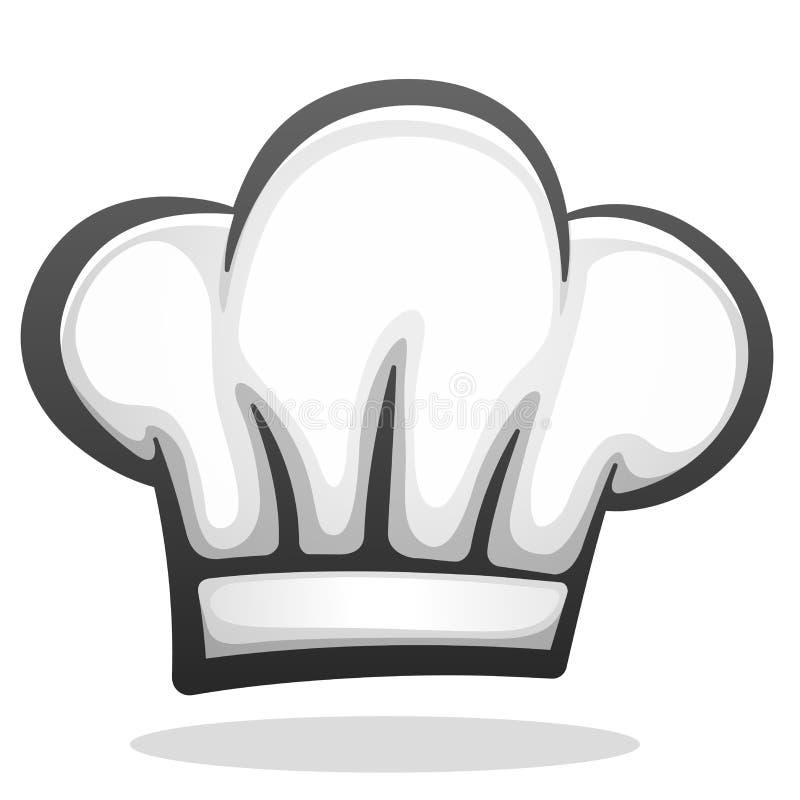 Progettazione dell'icona del cappello del cuoco unico di vettore illustrazione vettoriale