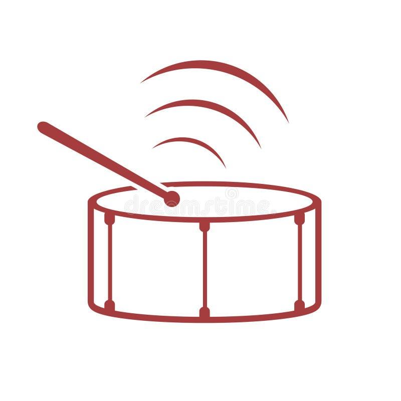 Progettazione dell'icona del tamburo royalty illustrazione gratis