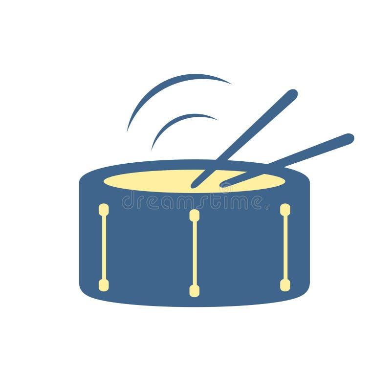Progettazione dell'icona del tamburo illustrazione di stock
