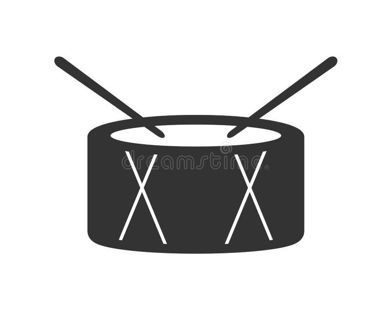 Progettazione dell'icona del tamburo illustrazione vettoriale