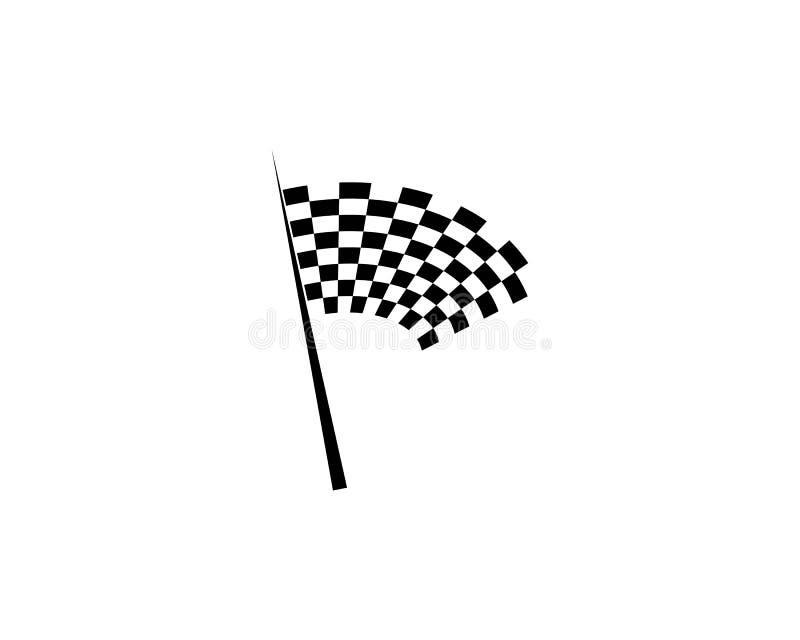 Progettazione dell'icona della bandiera della corsa illustrazione di stock