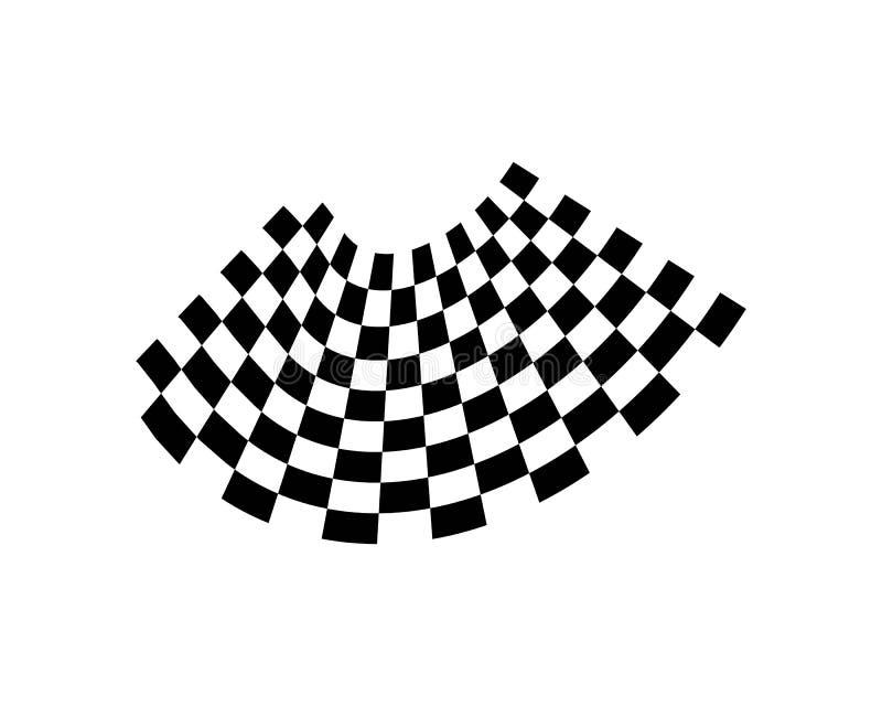 Progettazione dell'icona della bandiera della corsa illustrazione vettoriale