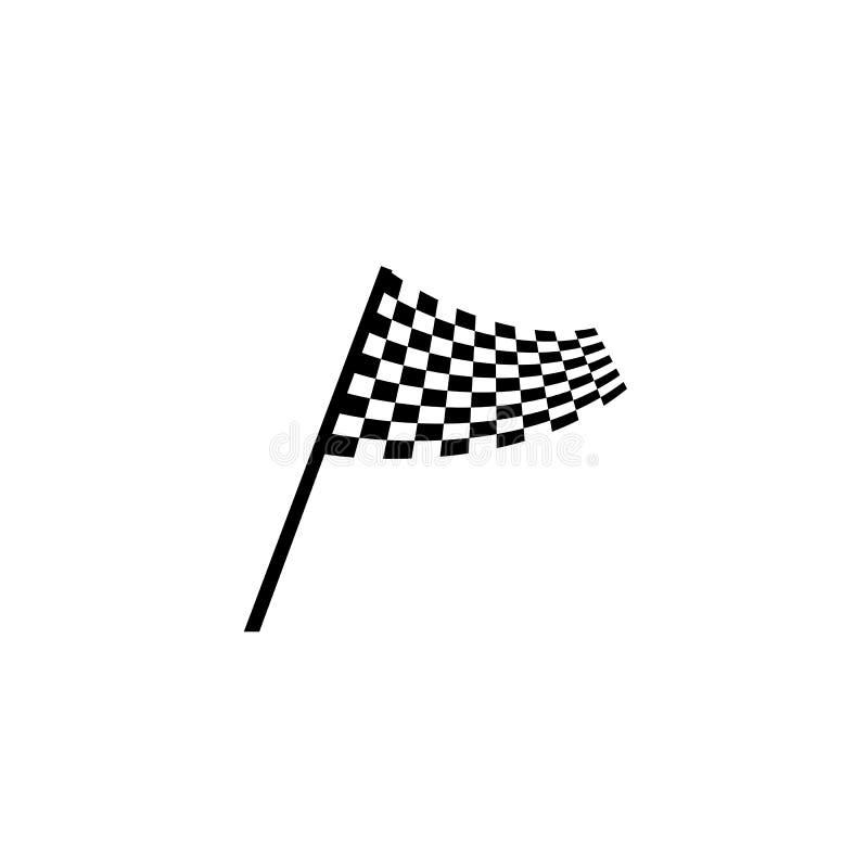 Progettazione dell'icona della bandiera della corsa royalty illustrazione gratis