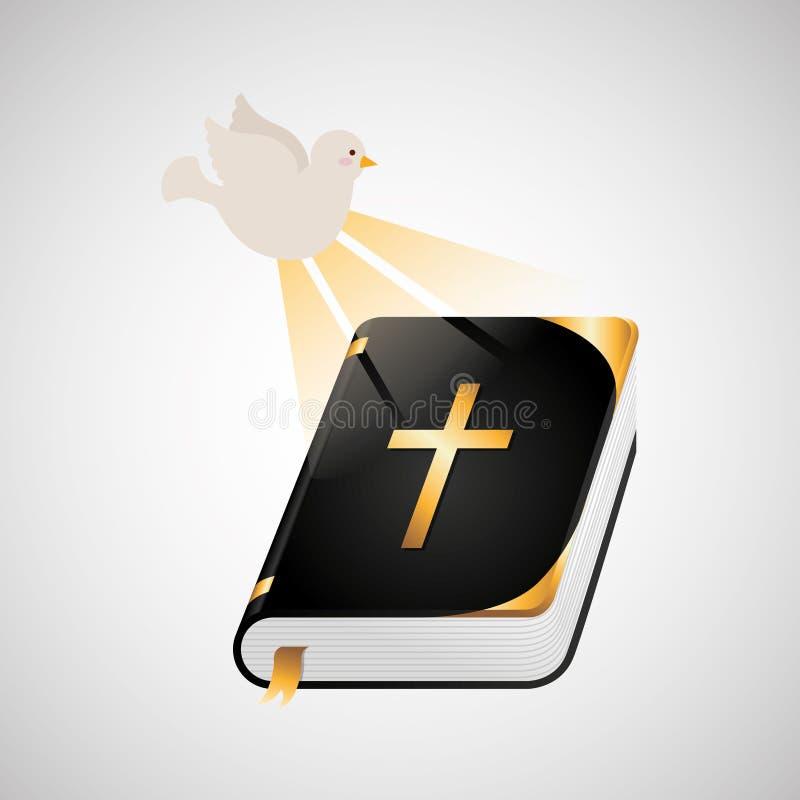 progettazione dell'icona della bibbia di Spirito Santo royalty illustrazione gratis