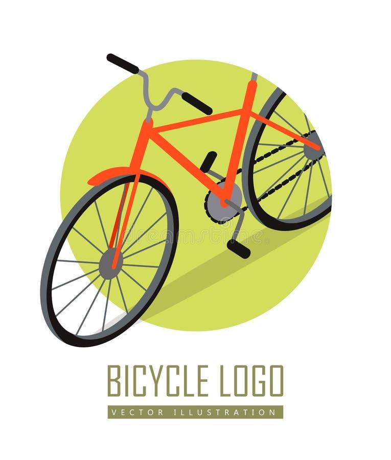 Progettazione dell'icona della bicicletta isolata Trasporto personale illustrazione vettoriale