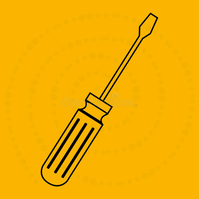 Progettazione dell'icona dello strumento illustrazione di stock