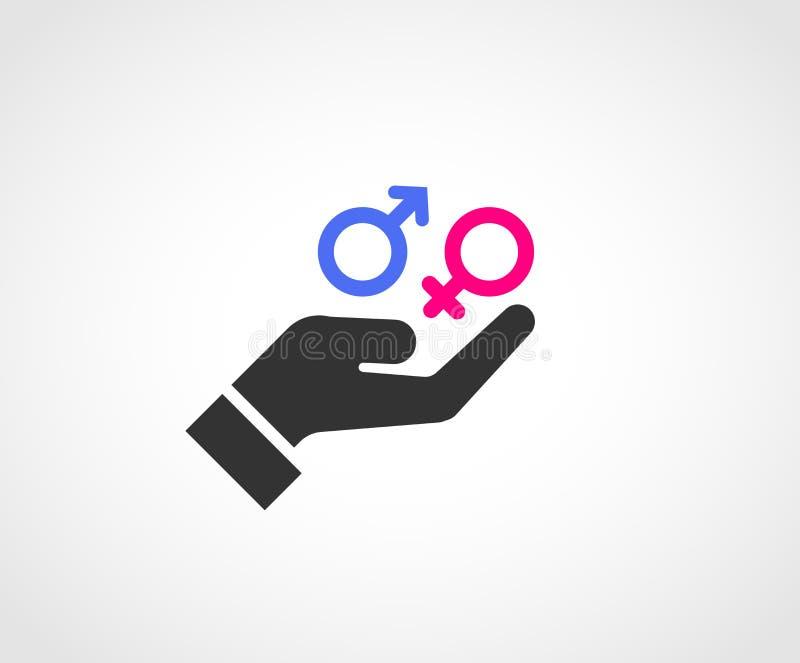 Progettazione dell'icona di concetto di Equaly di genere royalty illustrazione gratis