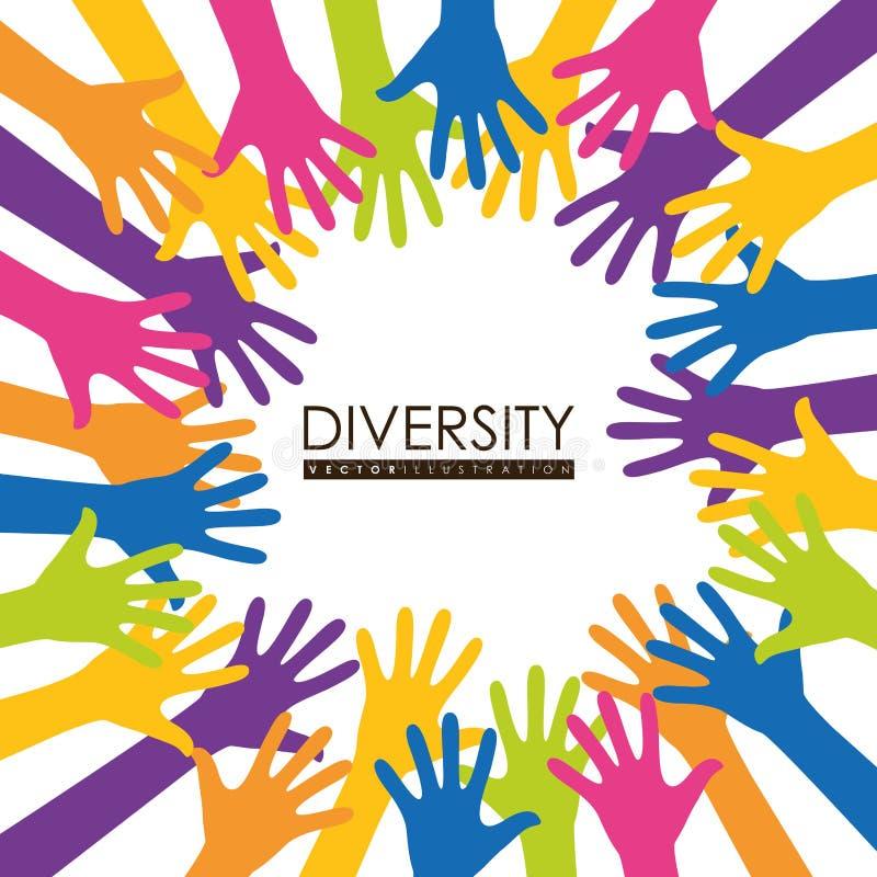 Progettazione dell'icona di diversità illustrazione di stock