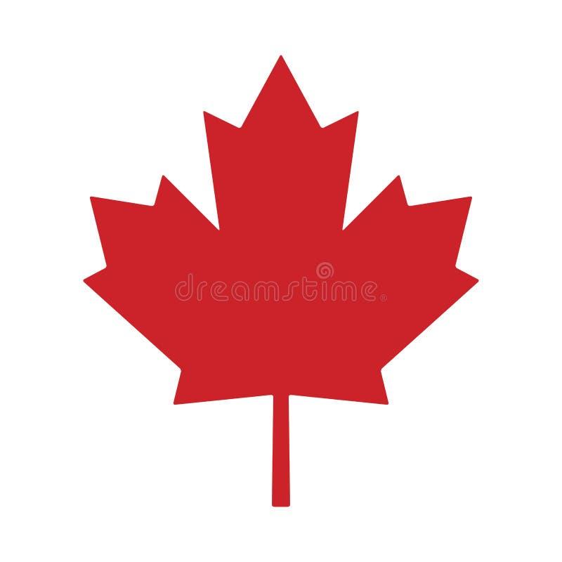 Progettazione dell'icona di simbolo di vettore del Canada della foglia di acero royalty illustrazione gratis
