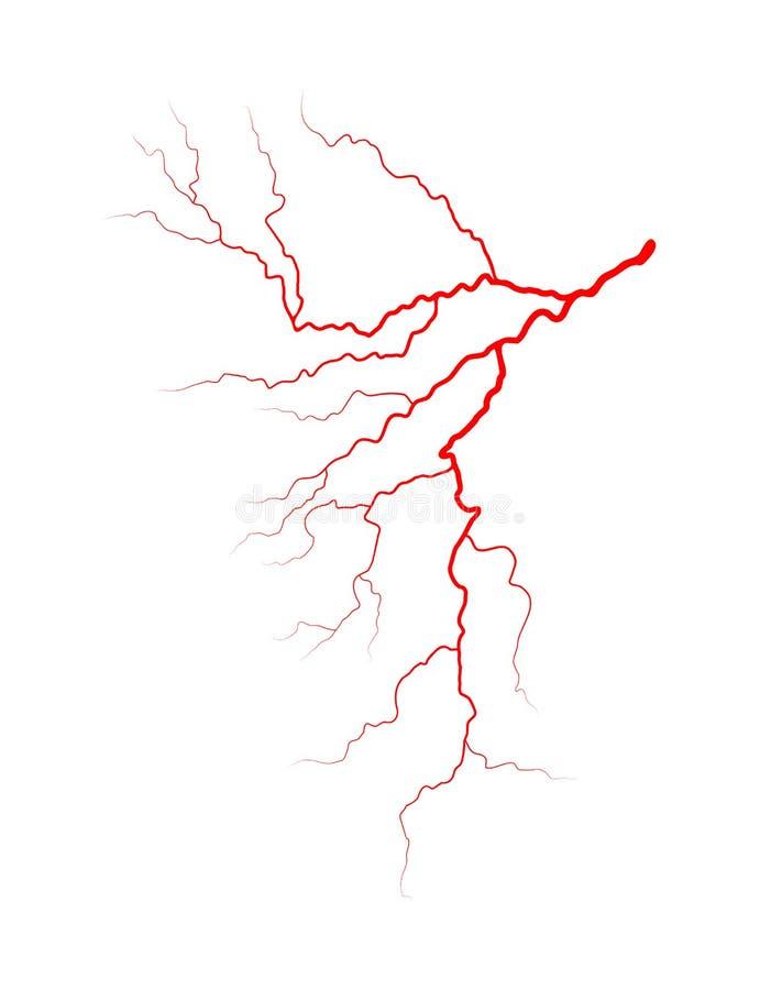 Progettazione dell'icona di simbolo di vettore del sistema del sangue della vena Bello illustrat illustrazione vettoriale