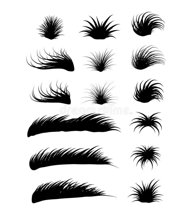 Progettazione dell'icona di simbolo di vettore dell'erba Bella illustrazione isolata royalty illustrazione gratis