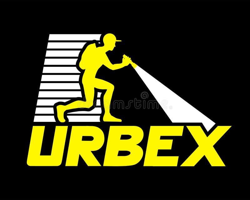 Progettazione dell'icona di Urbex illustrazione di stock