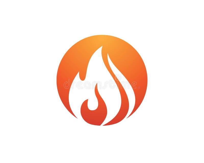 progettazione dell'icona di vettore della fiamma del fuoco illustrazione di stock