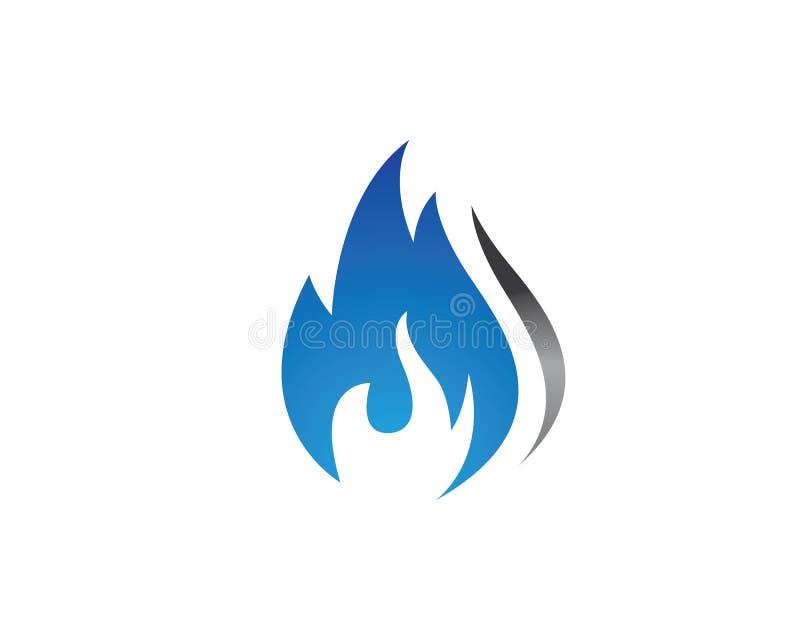 progettazione dell'icona di vettore della fiamma del fuoco royalty illustrazione gratis