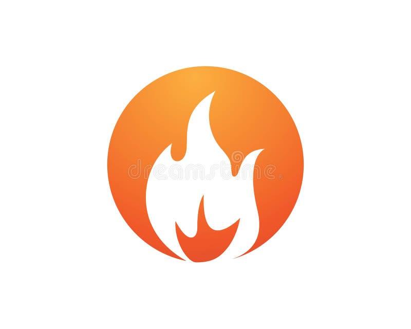 progettazione dell'icona di vettore della fiamma del fuoco illustrazione vettoriale