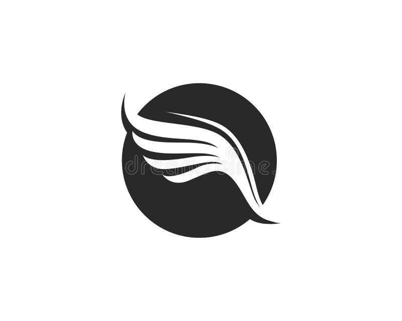 Progettazione dell'icona di vettore di Wing Logo Template del falco illustrazione vettoriale