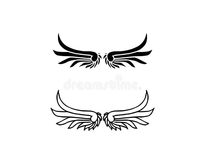 Progettazione dell'icona di vettore di Wing Logo Template del falco illustrazione di stock