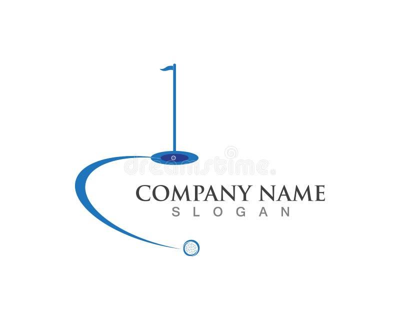 Progettazione dell'icona dell'illustrazione di vettore di Logo Template di golf royalty illustrazione gratis