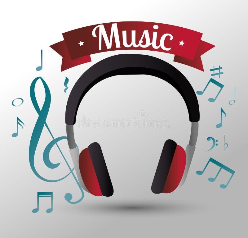 progettazione dell'icona isolata cuffie di musica royalty illustrazione gratis