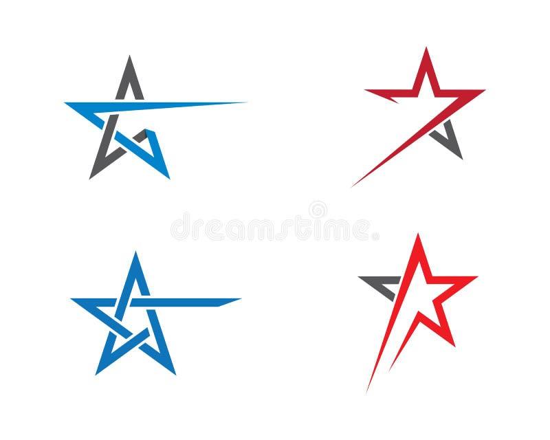 Progettazione dell'illustrazione del modello di logo della stella illustrazione vettoriale
