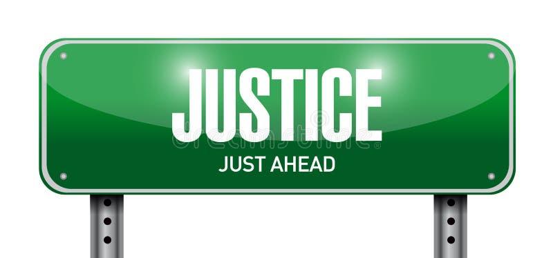 progettazione dell'illustrazione del segnale stradale della giustizia royalty illustrazione gratis
