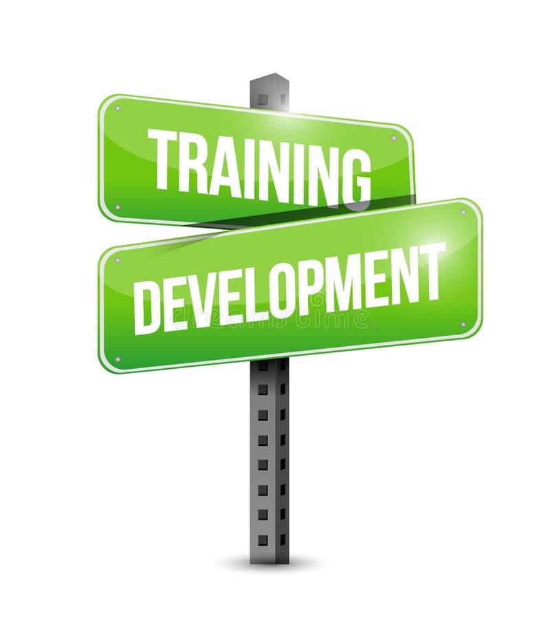 progettazione dell'illustrazione del segnale stradale di sviluppo di addestramento illustrazione vettoriale