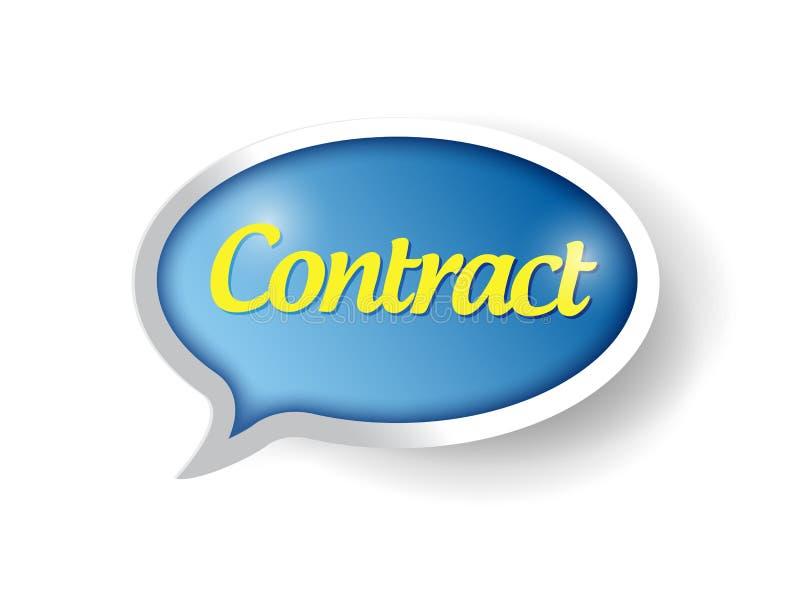 Progettazione dell'illustrazione del segno del messaggio del contratto royalty illustrazione gratis