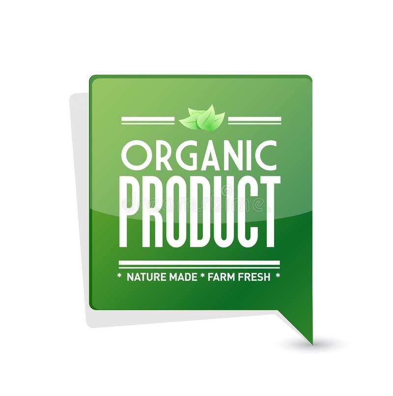 progettazione dell'illustrazione del segno del puntatore del prodotto biologico royalty illustrazione gratis