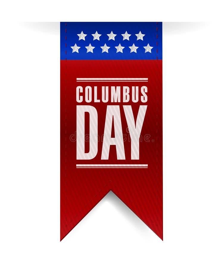Progettazione dell'illustrazione del segno dell'insegna di giorno di Colombo illustrazione vettoriale