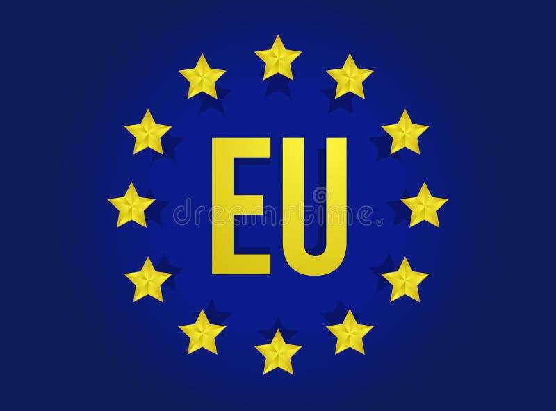 Progettazione dell'illustrazione della bandiera di Unione Europea royalty illustrazione gratis