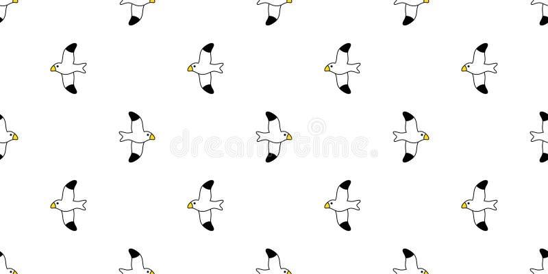 Progettazione dell'illustrazione della carta da parati delle mattonelle del fondo di ripetizione del fumetto isolata sciarpa senz royalty illustrazione gratis