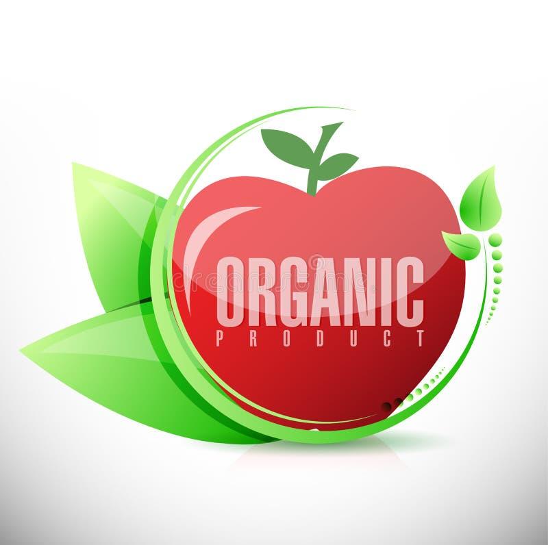 Progettazione dell'illustrazione della mela del prodotto biologico illustrazione vettoriale