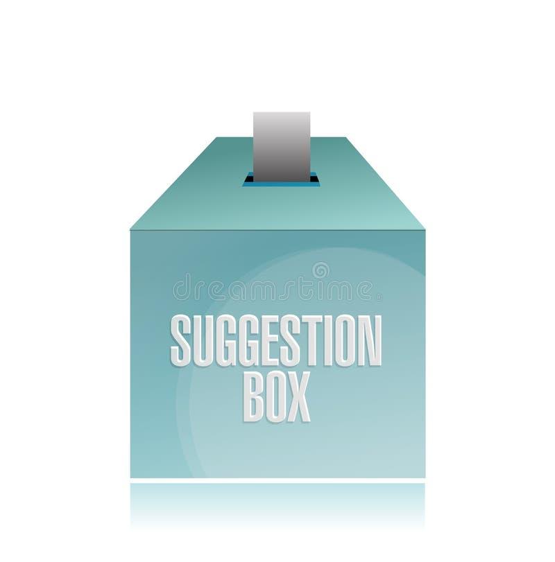Progettazione dell'illustrazione della scatola di suggerimento illustrazione vettoriale