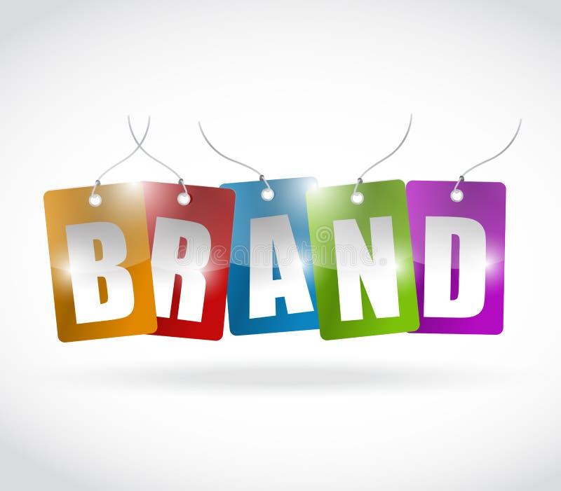 Progettazione dell'illustrazione delle etichette di colore di marca illustrazione di stock