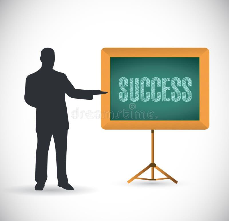 Progettazione dell'illustrazione di concetto di presentazione di successo illustrazione di stock
