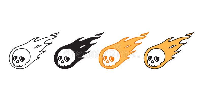 Progettazione dell'illustrazione di scarabocchio del fumetto del carattere del fantasma dell'osso del pirata di simbolo di logo d illustrazione di stock