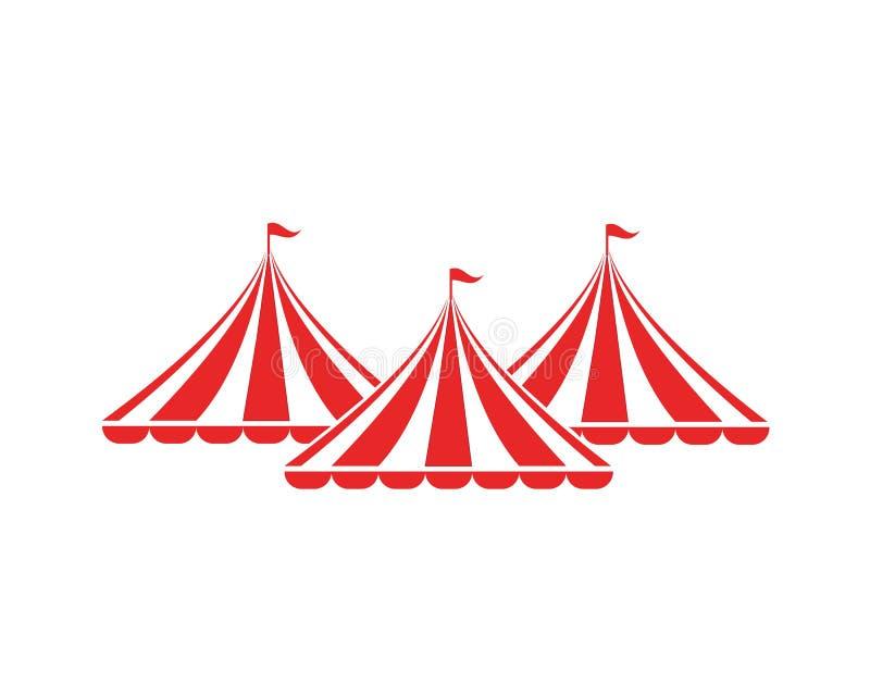 Progettazione dell'illustrazione di vettore del circo illustrazione vettoriale