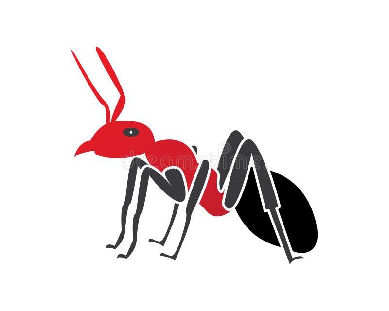 Progettazione dell'illustrazione di vettore del modello di Ant Logo illustrazione vettoriale