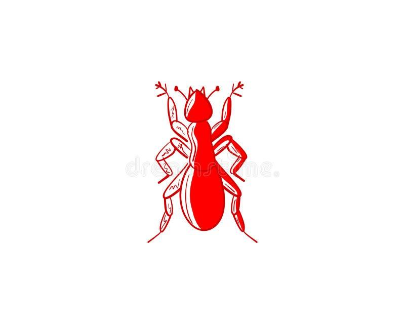 Progettazione dell'illustrazione di vettore del modello di Ant Logo royalty illustrazione gratis